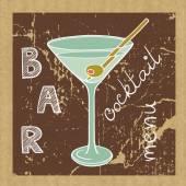 Doodle Martiniglas — Stockvector