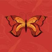 Retro butterfly design. — Stock Vector