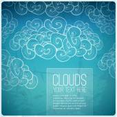 Blue sky background — Stock Vector