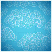 Seamless background with clouds — Stock Vector