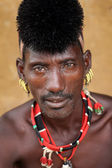 Hamer man with traditional hair dress, South Omo Valley, Ethiopia — Stock Photo