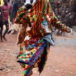 Ceremonial mask dance — Stock Photo #52545249