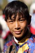 Young man with traditional dress at the inaugural procession of the annual Ladakh Festival — Stock Photo