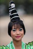 An unidentified Burmese young woman — Stock Photo