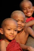 Unidentified young Burmese novices — Stock Photo