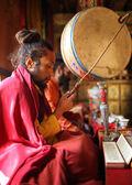 Unidentified Buddhist monk — Stock Photo