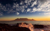 Table Mountain with clouds — Stock Photo