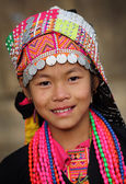 Unidentified Akha girl at New Year ceremony — Stock Photo