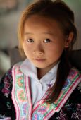 Unidentified Hmong girl at New Year ceremony — Stock Photo