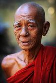 An unidentified Burmese Buddhist monk — Stock Photo
