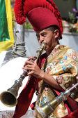 Unidentified musician — Stock Photo