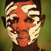 Unidentified young Suri man — Foto Stock