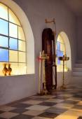Interior of a Greek orthodox church — Stock Photo