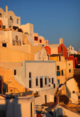 Scenic sunset view in Oia — Stock Photo