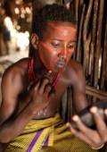 Boy of the Arbore tribe in Lower Omo Valley, Ethiopia — Stock Photo