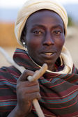 Young man of the Arbore tribe in Lower Omo Valley, Ethiopia — Stock Photo