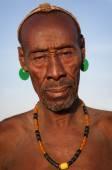 Old Karo man in Lower Omo Valley, Ethiopia — Stock Photo