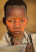 Mursi boy in Lower Omo Valley, Ethiopia — Stock Photo