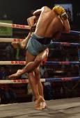 ラオス ラオスのキック ボクシングの戦いをムエタイ — ストック写真