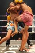 泰拳老挝踢拳在老挝的斗争 — 图库照片