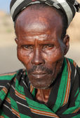 Old man of the Arbore tribe in Ethiopia — Stock Photo