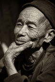 Old man of the Akha tribe in Laos — Foto Stock