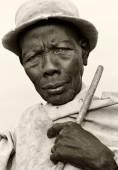 Old man of the Mursi tribe, Ethiopia — Stock Photo