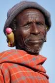 Old Maasai man — Stock Photo