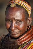 Unidentified old Samburu woman — Stock Photo