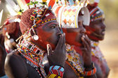 Unidentified Samburu warriors — Stock Photo