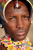 Unidentified Samburu warrior — Stock Photo
