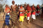 Unidentified Samburu dancers — Stock Photo