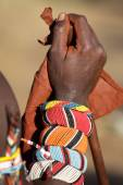 Lower arm of a Samburu warrior — Stock Photo