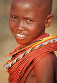 Unidentified beautiful Samburu girl — Stock Photo