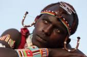 Unidentified Maasai warrior — Stock Photo