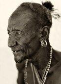 Old Turkana man — Stock Photo