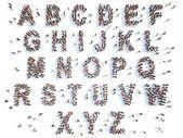 Alphabet with people — Stock Photo
