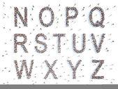 Alphabet with people — Stok fotoğraf