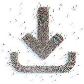 Symbol of downloads. — Stock Photo