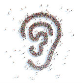 Symbol of your ear. — Stock Photo
