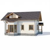 Casa sobre un fondo blanco — Stockfoto