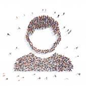 People in the shape of man. — Foto de Stock