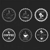 Set vintage retro coffee — Stockvektor