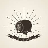 Vintage beer emblem — Stock Photo