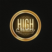 Golden label premium quality — Stock Photo