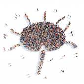 People in the form of a lymph node. — Stock Photo
