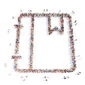 Människor i form av en mapp. — Stockfoto