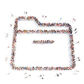 People in the form of a folder. — Stock Photo