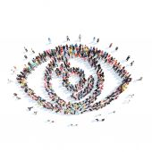 People in the shape of eye. — Stock Photo