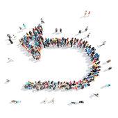 Mensen in de vorm van pijlen. — Stockfoto